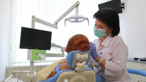 Stomatology - Removal Of Dental Calculus With Ultr stock footage