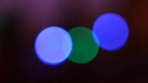 Color Circles Bokeh Footage