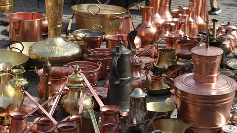 Copper Kettles stock footage