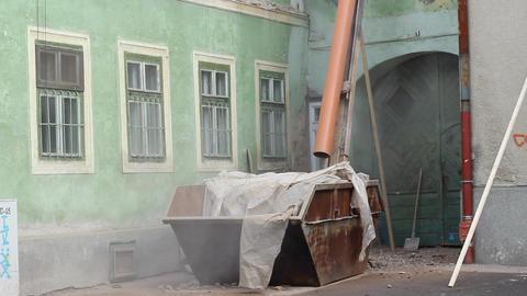 Debris Gutter to Dumpster Footage