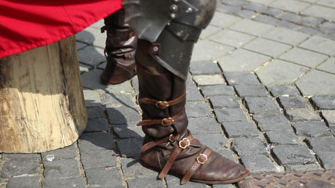 Medieval Military Boots Live Action