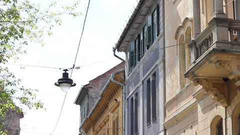 Old Buildings Street stock footage