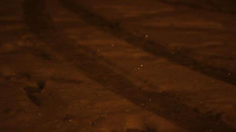 Snowflakes Shaddows Footage