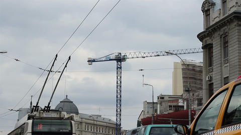Trolleybus Antennas on Wires Footage