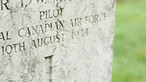WWII British Pilot Stone stock footage