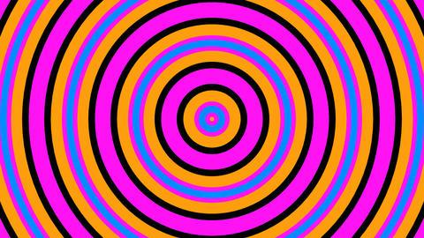 circle retro stripes with alpha matte Animación