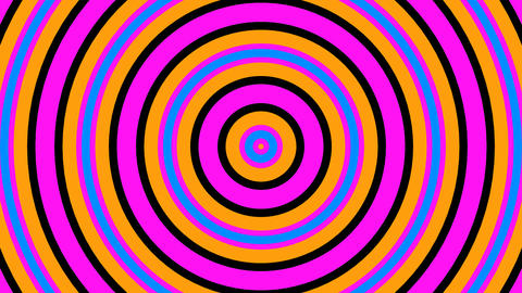 circle retro stripes with alpha matte Animation