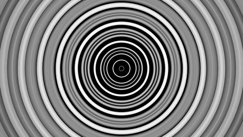 retro hypnotize circle with alpha matte Animation