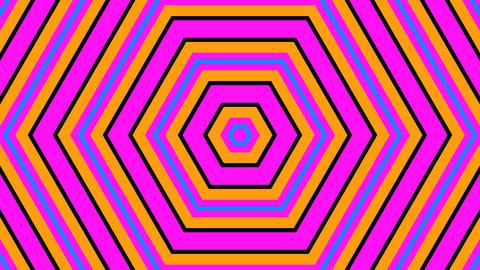 hexagonal retro stripes with alpha matte Animation