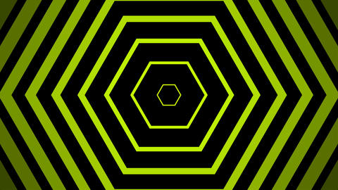 green hexagonal simple with alpha matte Animation