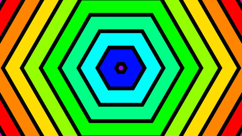 colorful hexagonal stripes with alpha matte Animation