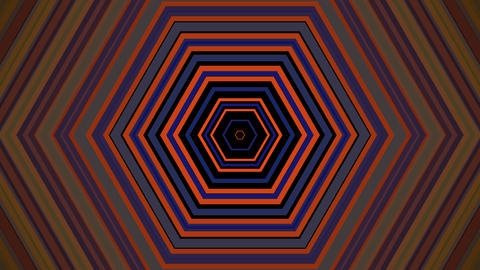 retro hexagonal colors with alpha matte Animation
