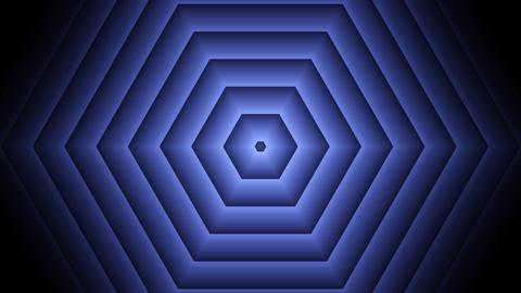 blue hexa lights with alpha matte Animation