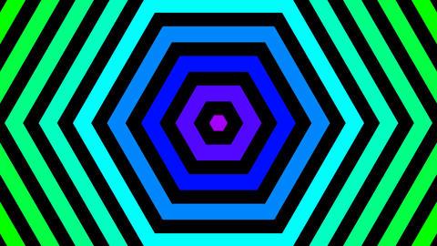 hexagon rainbow color with alpha matte Animation