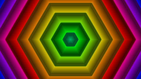 colorful hexagonal pattern with alpha matte Animation