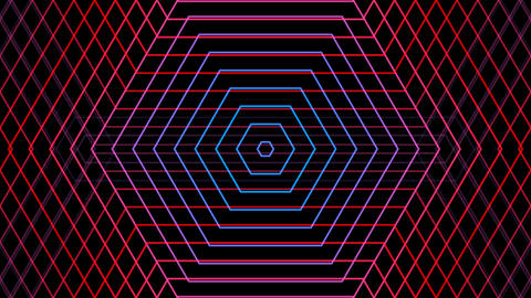 hexagonal line reflected with alpha matte Animation