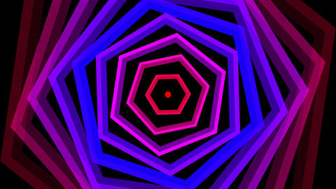 hexagonal twist color with alpha matte Animation