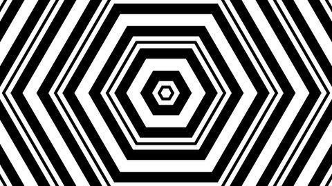 hexagonal luma stripes with alpha matte Animation