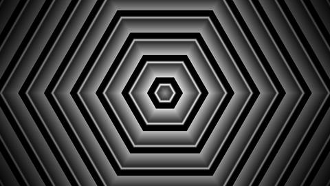 Hexagon Shadow Stripe With Alpha Matte stock footage