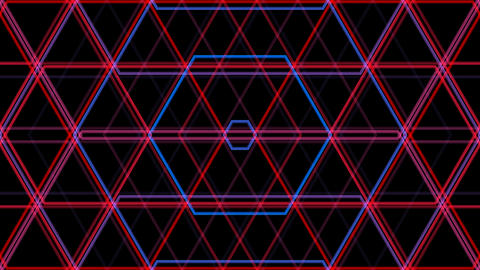 hexa line pattern with alpha matte Animation