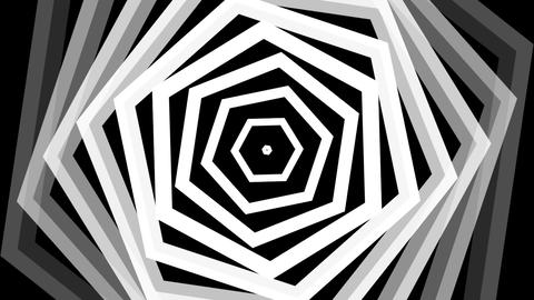 hexagonal twist white with alpha matte Animation