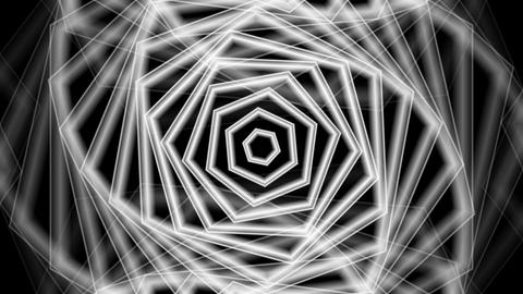hexagonal twirl luminance with alpha matte Animation