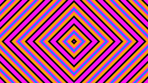 rhombus retro stripes with alpha matte Animation