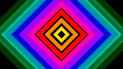 rainbow square stripe with alpha matte Animation