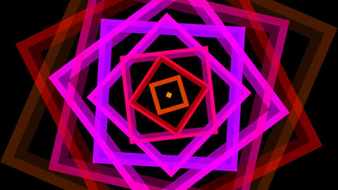 square twist color with alpha matte Animation