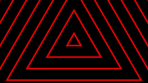 red line triangle with alpha matte Animation