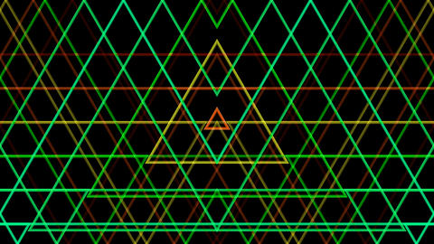 triangle line pattern with alph Stock Video Footage