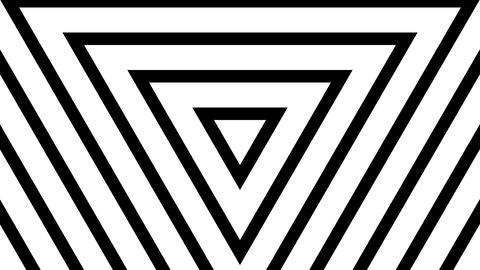 white triangle wave with alpha matte Stock Video Footage