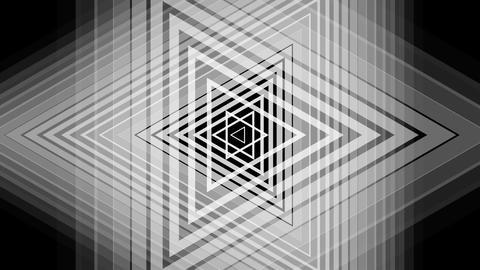 retro triangle luminance with alpha matte Animation