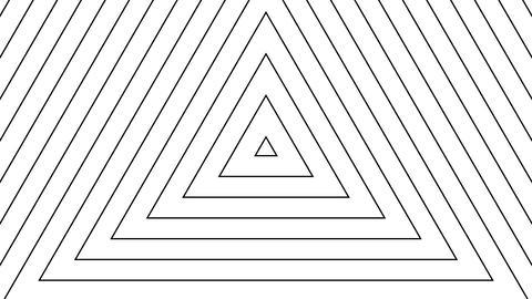 trigonal white stripes with alpha matte Stock Video Footage