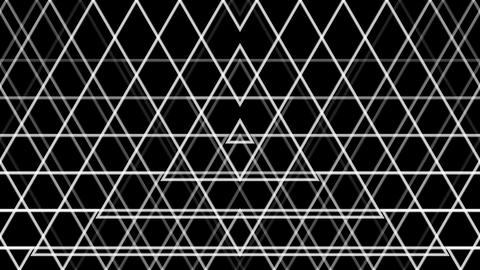 triangle line pattern with alpha matte Stock Video Footage