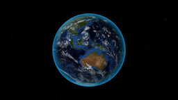 Sudan. 3D Earth in space - zoom in on Sudan outlin Stock Video Footage
