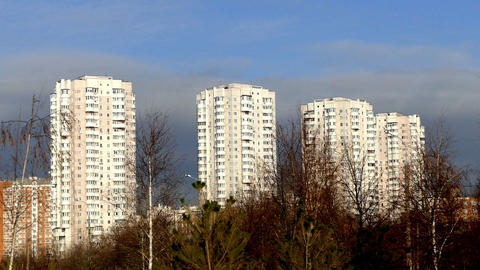 High-rise buildings on the site of the terrorist a Stock Video Footage