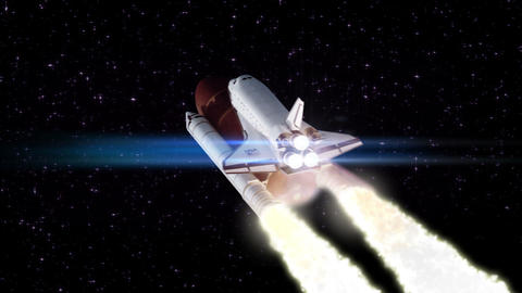 Space shuttle launch loopable Stock Video Footage