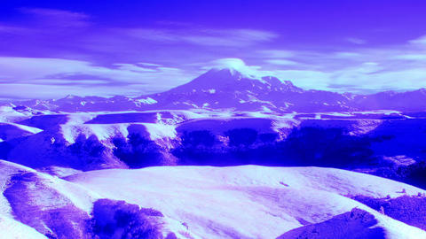 InfraRed landscape: Movement of the clouds on the Stock Video Footage