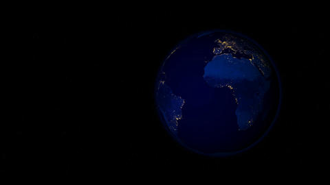 Planet Earth at Night Stock Video Footage