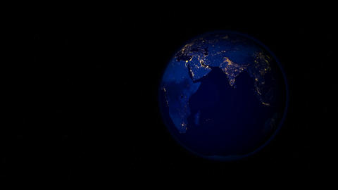 Planet Earth at Night CG動画素材