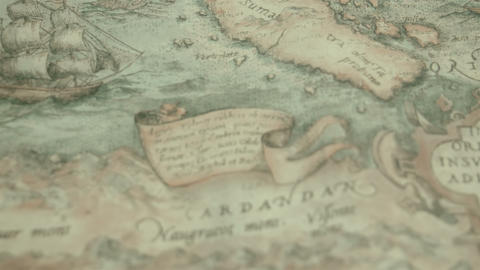 A navigational map with the island of Cardandan Stock Video Footage
