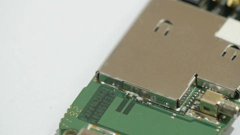 The solder plate of the micro chip of the USB Stock Video Footage