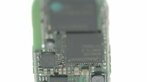 The batterys micro chip Stock Video Footage