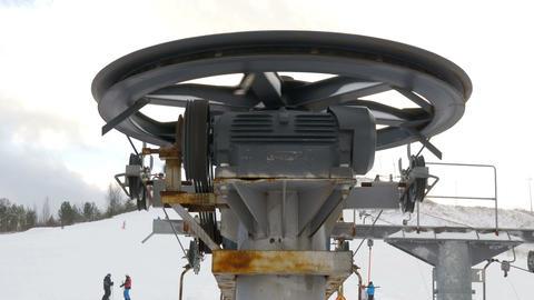 A ski lift on a ski resort Stock Video Footage