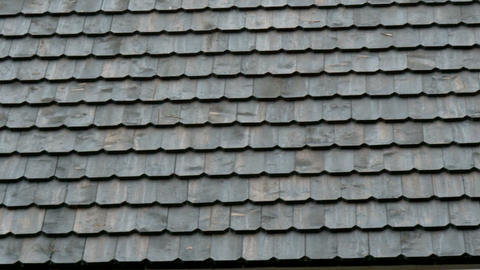 Tiles of the newly constructed shingle roof Footage