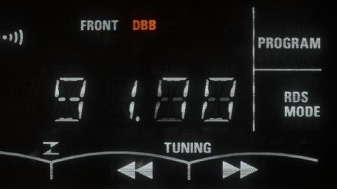 A radio tuner tuning on Stock Video Footage