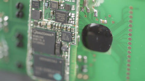 Close up look of the micro chips Footage
