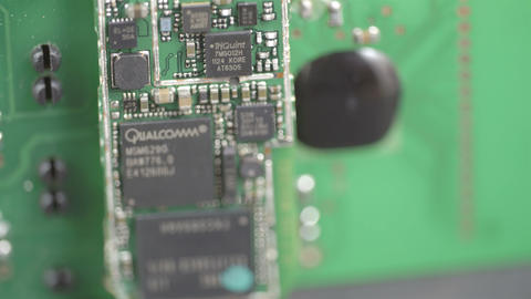 Close up look of the micro chips Stock Video Footage
