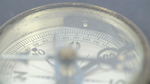 Close up view of the compass and its numbers Stock Video Footage